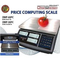<span style='font-size: 1.1em; color: #4B9000'>Digiweigh DWP-60PC Computing Scale</span>.<br /><br /> The DWP-PC is sturdy, High precise price computing scale which is perfect for repeated use in grocery store, farm Market, Super market to weigh and sell all kind of foods and so on.