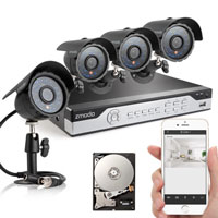 <span style='font-size: 1.1em; color: #4B9000'>Zmodo PKD-DK4216-500GB 4 Channel CCTV</span>.<br /><br /> The PKD-DK4216-500GB kit includes a 4 CH H.264 standalone DVR with 500GB HD and four outdoor security cameras providing everything you need to have.