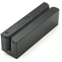 2xhome - POSMATE - USB Mini Credit Card 3 Track Hi Lo Co Magnetic Reader Swiper